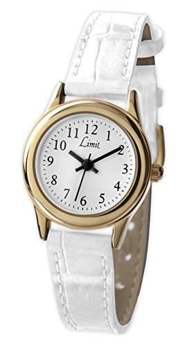 Limit WomenQuarz-Uhr mit weissem Zifferblatt Analog-Anzeige und weisse PU Strap 698135