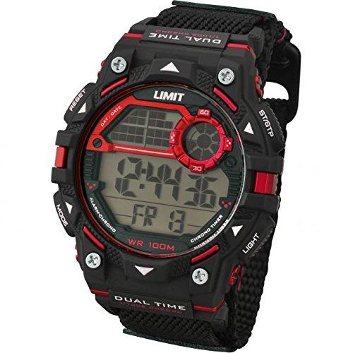 Limit Active Boy s Digital Uhr mit LCD Zifferblatt Digital Display und schwarz Kunststoff Gurt 5603 24