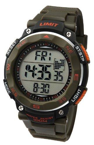 Limit Herrenuhr ProXR digital Alarm Stoppuhr Kompass gruen Resin Armband 5488