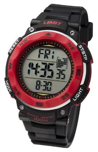 Limit Herrenuhr ProXR digital Alarm Stoppuhr Kompass schwarz Resin Armband 5486