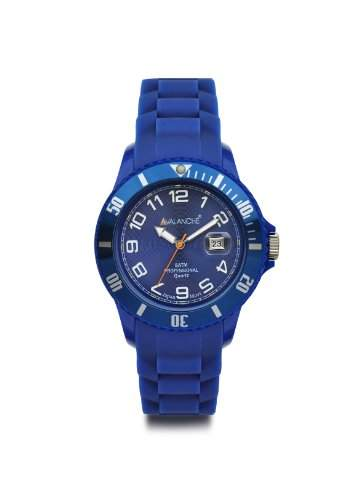 Avalanche Watch Unisex-Armbanduhr Alpha Analog Silikon blau AV-100S-BU-44