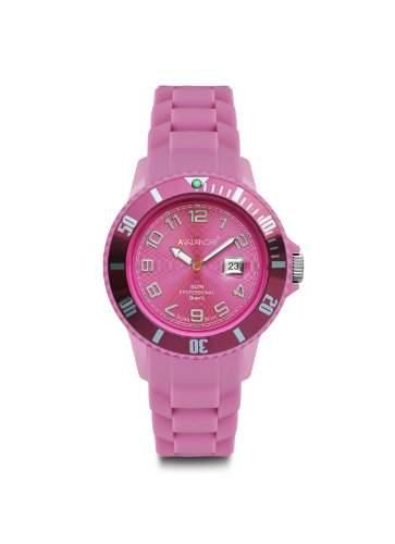 Avalanche Watch Unisex-Armbanduhr Alpha Analog Silikon pink AV-100S-PK-40