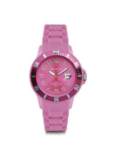 Avalanche Watch Unisex-Armbanduhr Analog Plastik rosa AV-100S-PK-44