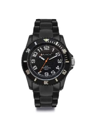 Avalanche Watch Unisex-Armbanduhr Analog Plastik schwarz AV-101P-BK-40