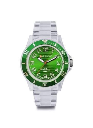 Avalanche Watch Unisex-Armbanduhr Analog Plastik gruen AV-101P-CLGR-40