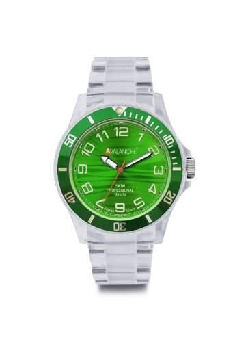 Avalanche Watch Unisex-Armbanduhr Alpine Analog Kunststoff gruen AV-101P-CLGR-44