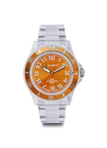 Avalanche Watch Unisex-Armbanduhr Analog Plastik orange AV-101P-CLOR-40