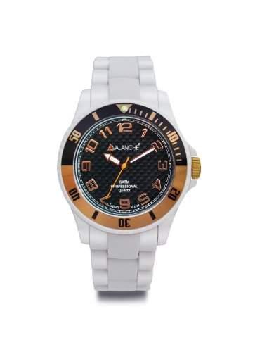 Avalanche Watch Unisex-Armbanduhr Analog Plastik weiss AV-101P-WHRG-44