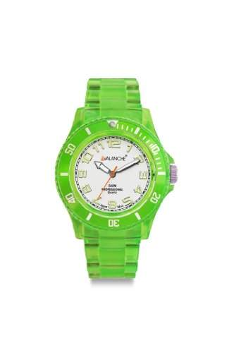 Avalanche Watch Unisex-Armbanduhr Analog Plastik weiss AV-102P-CLGR-40