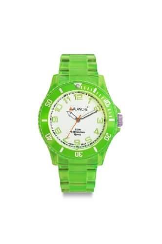 Avalanche Watch Unisex-Armbanduhr Analog Plastik weiss AV-102P-CLGR-44