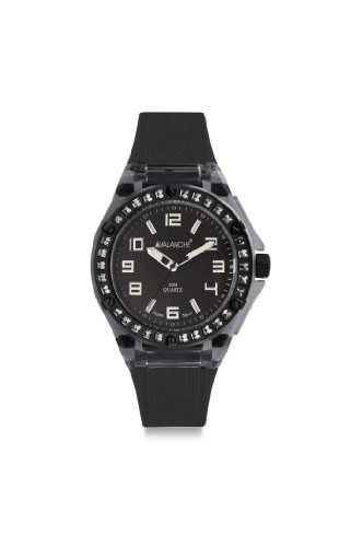 Avalanche Watch Damen-Armbanduhr Sunrise Analog Silikon schwarz AV-104S-CLBK
