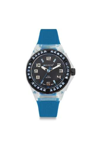 Avalanche Watch Damen-Armbanduhr Sunrise Analog Silikon blau AV-104S-CLBU