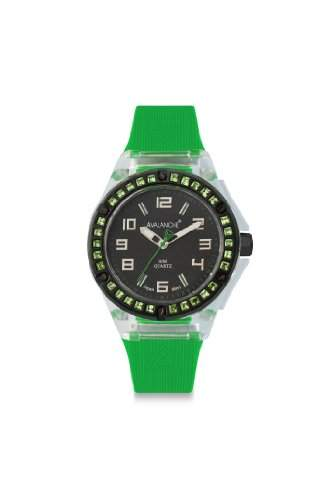 Avalanche Watch Damen-Armbanduhr Analog Plastik schwarz AV-104S-CLGR