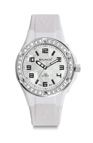 Avalanche Watch Damen-Armbanduhr Sunrise Analog Silikon weiss AV-104S-CLWH