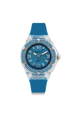 Avalanche Watch Damen-Armbanduhr Jewel Analog Silikon blau AV-105S-CLBU