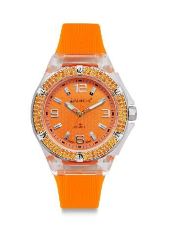 Avalanche Watch Damen-Armbanduhr Analog Plastik orange AV-105S-CLOR