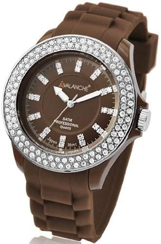 Avalanche Watch Damen-Armbanduhr Bliss Analog Silikon braun AV-107S-BR-40