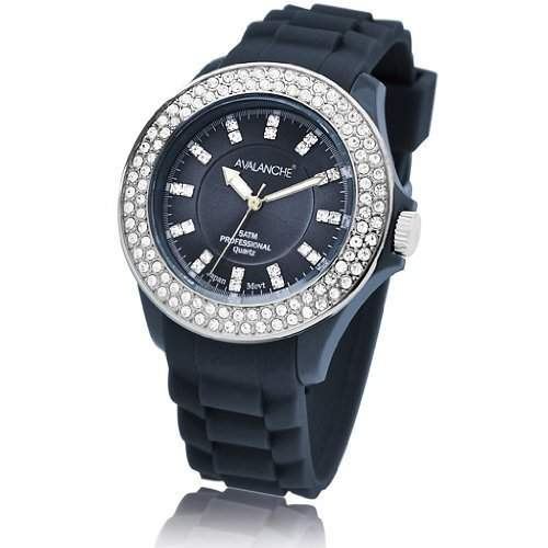 Avalanche Watch Damen-Armbanduhr Bliss Analog Silikon blau AV-107S-BU-40