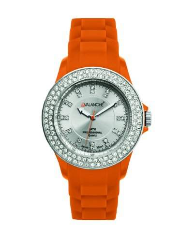 Avalanche Watch Damen-Armbanduhr Analog Plastik Silber AV-107S-OR-44