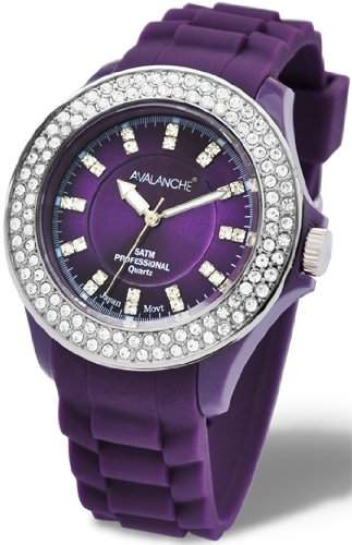 Avalanche Watch Damen-Armbanduhr Bliss Analog Silikon violett AV-107S-PU-40