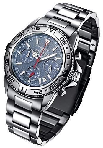FIREFOX DESTROYER FFS01-103 blau Chronograph massiv Edelstahl Sicherheitsschliesse Herrenuhr Armbanduhr 10 ATM Pruefdruck