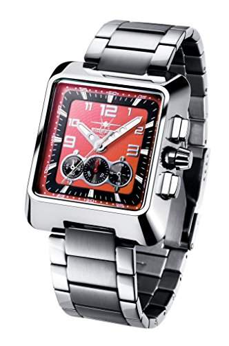 FIREFOX SEASEEKER FFS160-105 rot Chronograph Herrenuhr Damenuhr Armbanduhr Sicherheitsfaltschliesse massiv Edelstahl Pruefdruck