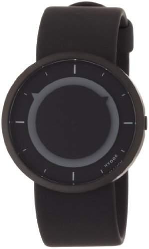Hygge 3012Unisex Quarzuhr mit grauem Zifferblatt Analog-Anzeige und schwarz PU Band msp3012bc GR