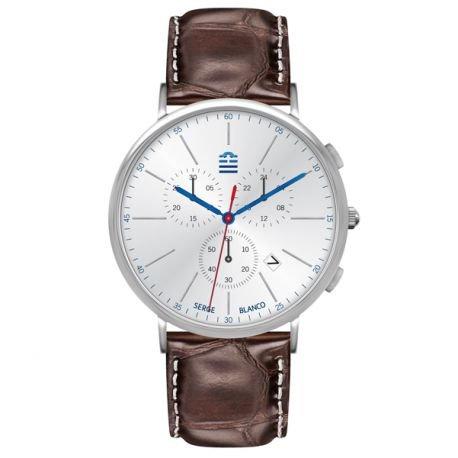 Zeigt Herren Serge Blanco Chronograph Braun sb5908 2