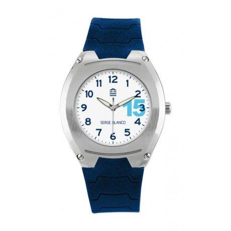 Serge Blanco Armbanduhr SB1000 32 Herren blau