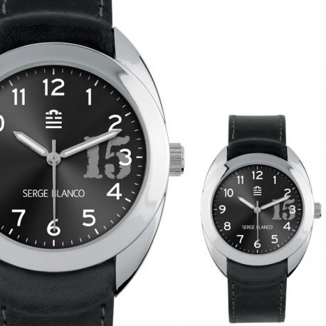 Serge Blanco New Basic Armbanduhr Unisex Schwarz SB1080 17