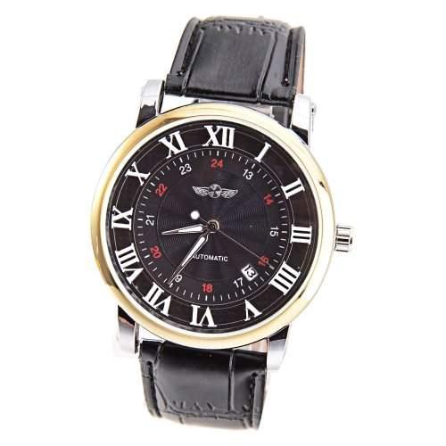 Mudder Winner Mode roemische und arabische Ziffern Anzeige Automatische Mechanische Armbanduhr