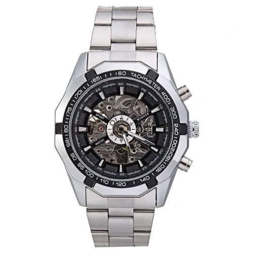 Winner luxurioes Skelett Automatisch Mechanisch Herren Armbanduhr