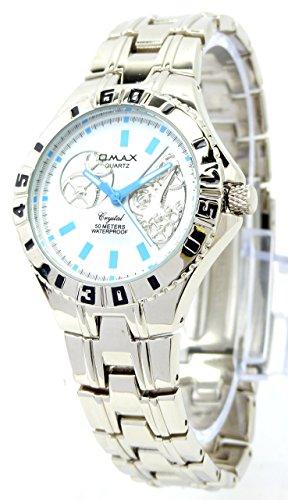 Designer Herrenuhr Armband Uhr Herrenuhr Herren Uhr OMAX AQ Silver