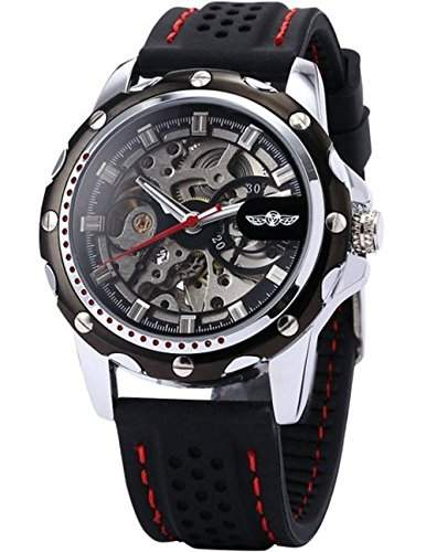 Winner Herrenuhr Skelett Elegant Klassisch mechanisch Automatik Armbanduhr Uhr