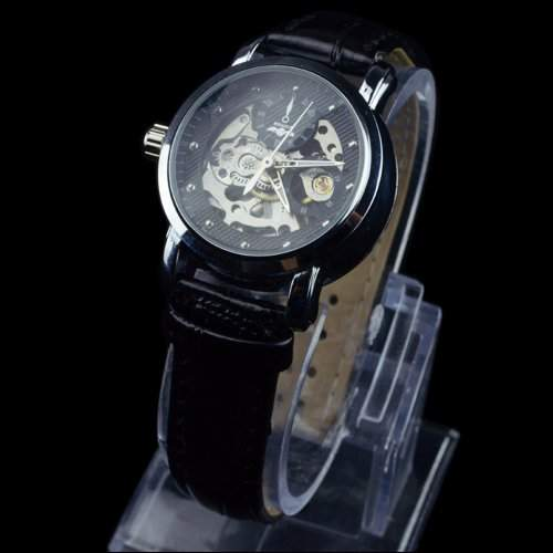 Winner Damenuhr Skelett Elegant Klassisch mechanisch Automatik Armbanduhr Uhr