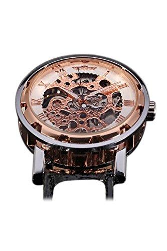 WINNER Klassische Maenner mechanische Armbanduhr Rose Golden
