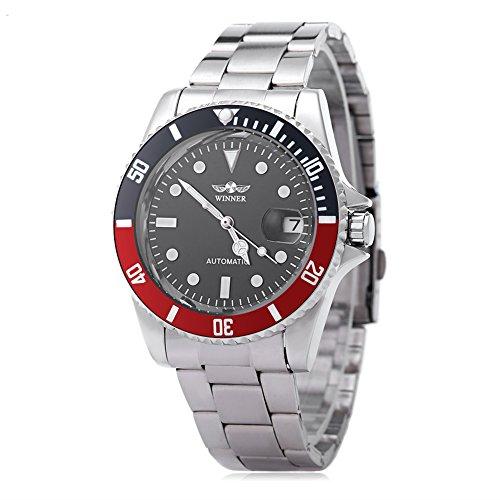 Leopard Shop Winner w042602 Stecker Armbanduhr Automatische Mechanische Uhr Luminous Datum Display transparent backcover 3