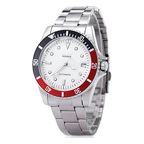Leopard Shop Winner w042602 Stecker Armbanduhr Automatische Mechanische Uhr Luminous Datum Display transparent backcover 4
