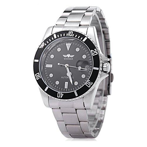 Leopard Shop Winner w042602 Stecker Armbanduhr Automatische Mechanische Uhr Luminous Datum Display transparent backcover 8