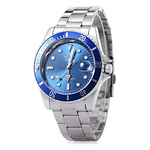 Leopard Shop Winner w042602 Stecker Armbanduhr Automatische Mechanische Uhr Luminous Datum Display transparent backcover 5