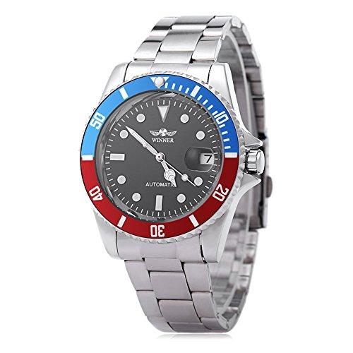 Leopard Shop Winner w042602 Stecker Armbanduhr Automatische Mechanische Uhr Luminous Datum Display transparent backcover 1