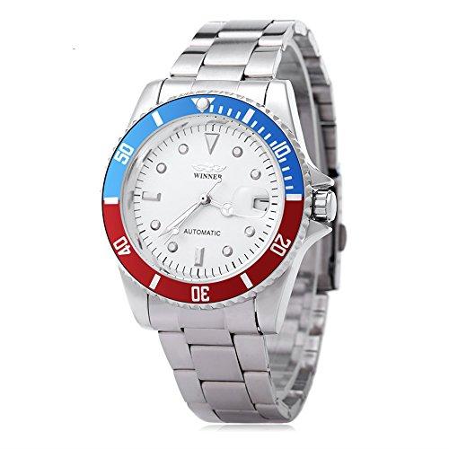 Leopard Shop Winner w042602 Stecker Armbanduhr Automatische Mechanische Uhr Luminous Datum Display transparent backcover 2