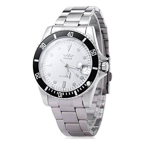 Leopard Shop Winner w042602 Stecker Armbanduhr Automatische Mechanische Uhr Luminous Datum Display transparent backcover 7