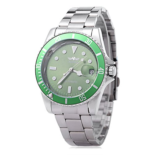 Leopard Shop Winner w042602 Stecker Armbanduhr Automatische Mechanische Uhr Luminous Datum Display transparent Back Cover 6