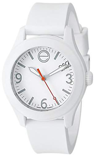 ESQ by Movado ESQ One Unisex-Armbanduhr 36mm Armband Silikon Weiss + Gehaeuse Schweizer Quarz Analog 7101451