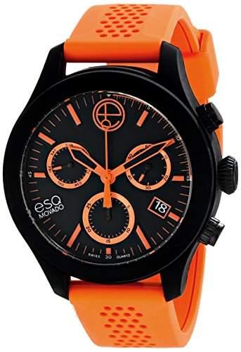 ESQ by Movado ESQ One Unisex-Armbanduhr 44mm Chronograph Armband Silikon Marine Schweizer Quarz 07301460