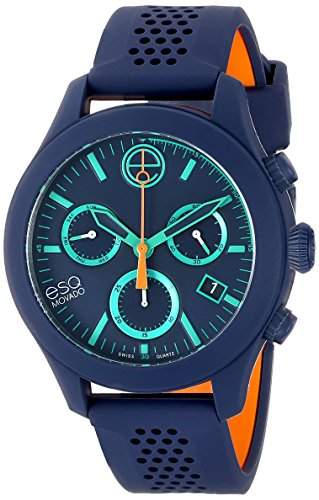 ESQ by Movado ESQ One Unisex-Armbanduhr 44mm Chronograph Armband Silikon Schweizer Quarz Datum 07301461