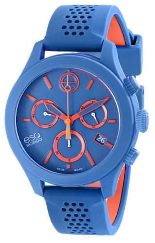 ESQ by Movado ESQ One Unisex-Armbanduhr 44mm Chronograph Armband Silikon Blau Schweizer Quarz 07301462