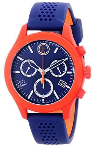ESQ by Movado ESQ One Unisex-Armbanduhr 44mm Chronograph Armband Silikon Schweizer Quarz Datum 07301463