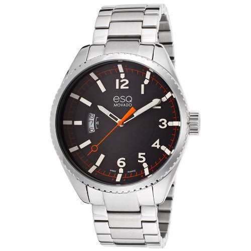 Esq By Movado Catalyst Herren 43mm Mineral Glas Datum Uhr 7301425